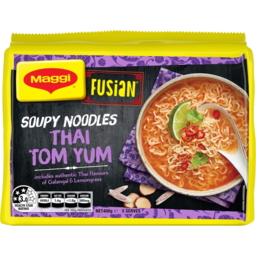Photo of Maggi Fusion Thai Tom Yum Flavour Soupy Noodles 5x80g