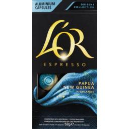 Photo of Lor Barista Espresso Papua New Guinea Single Origin Coffee Capsules 10 Pack 52g