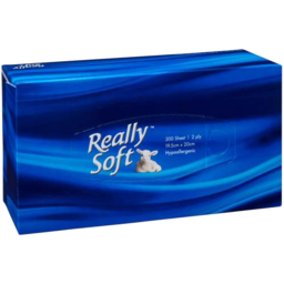 Photo of Really Soft Facial Tissue Hypoallergenic 2ply 200 Sheets 19.5cm X 20
