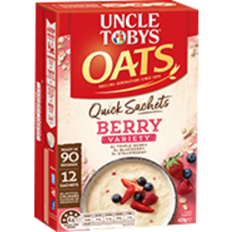 Photo of Uncle Toby's Oat Quick Berry Variety 10pk