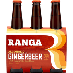 Photo of Ranga Alcoholic Ginger Beer 330ml Bottles 6 pack