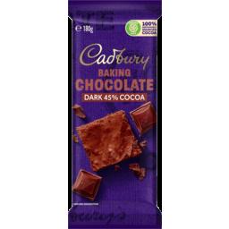 Photo of Cadbury Baking Choc Dark Block 180gm