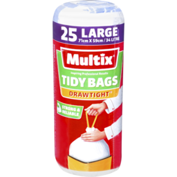 Photo of Multix Drawtight Tidy Bags Large 25 Pack