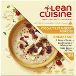 Photo of Lean Cuisine Breakfast Coconut & Cranberry Porridge 250gm