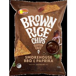 Photo of Sunrice Brown Rice Chips Smokehouse BBQ & Paprika 150g