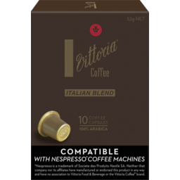 Photo of Vittoria Coffee Italian Blend Capsules 10pk