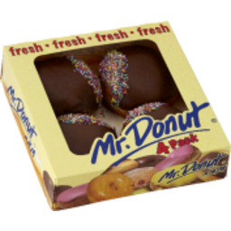 Photo of Mr Donut Choc Jam Donuts 4pk