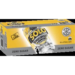 Photo of Solo Zero Sugar Original Lemon 10x375ml
