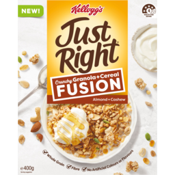 Photo of Kelloggs Just Right Fusion Crunchy Granola & Cereal Almond & Cashew 400g