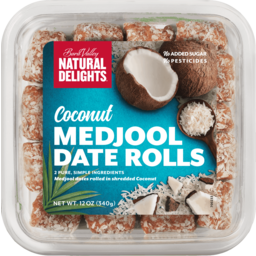 Photo of Natural Delights Coconut & Date Rolls 227g