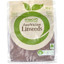 Photo of Macro Australian Linseeds 500g