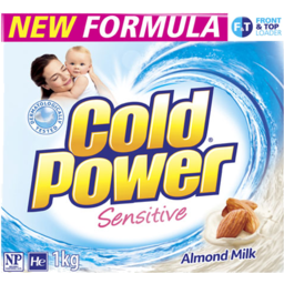 Photo of Cold Power Laundry Powder Front & Top Loader Sensitive 1kg