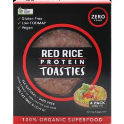 Photo of Zero Foods Red Rice Protein Toasties 4 Pack 308g