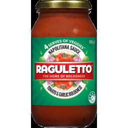 Photo of Raguletto Napolitana Tomato & Garlic Bolognese Pasta Sauce 500g