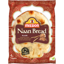 Photo of Mission Indian Naan Bread Plain 280g