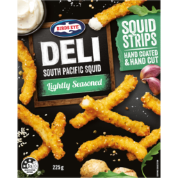 Photo of Birds Eye Deli South Pacific Squid Lightly Seasoned Strips 225g