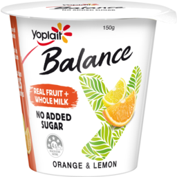 Photo of Yoplait Balance No Added Sugar Orange & Lemon Yoghurt 150g