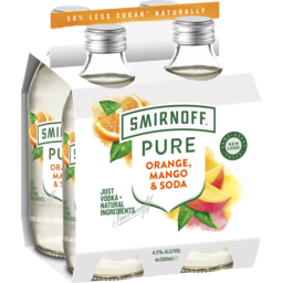 Photo of Smirnoff Pure Orange Mango & Soda Stubbies
