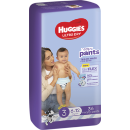 Photo of Huggies Ultra Dry Nappy Pants Boy Size 3 (6-12kg) 36 Pack