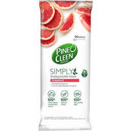 Photo of Pine O Cleen Simply Biodegradable Grapefruit Scented Wipes 90 Pack