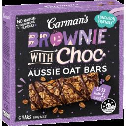 Photo of Carman's Brownie With Choc Aussie Oat Bars 6x30g