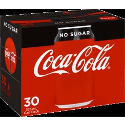 Photo of Coca Cola No Sugar Can 30 X 375ml