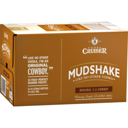 Photo of Vodka Cruiser Mudshake C.S Cowboy 270ml 24 Pack