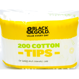 Photo of Black & Gold Cotton Tips - 200