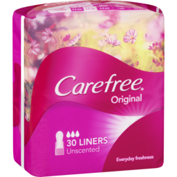 Photo of Carefree Original Panty Liners Unscented 30 Pack