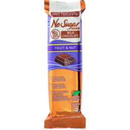 Photo of Well Naturally Nsa Milk Chocolate Fruit & Nut 45g
