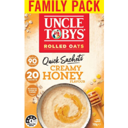 Photo of Uncle Tobys Oats Creamy Honey Quick Sachets 20 Pack 700g