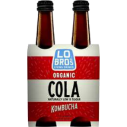 Photo of Lo Bros Kombucha Cola 300ml 4pk