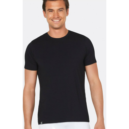 Photo of BOODY BAMBOO Mens Crew Neck T-shirt Black M