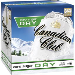 Photo of Canadian Club & Zero Sugar Dry Cans Cube