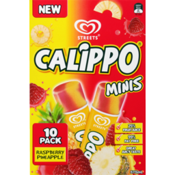 Photo of Streets Calippo Minis 10 Pack Raspberry Pineapple 575ml