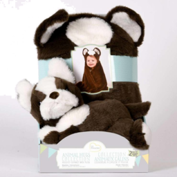 "Photo of Animal Hugs Hooded Sherpa Throw 32""X44"""