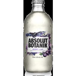 Photo of Absolut Botanik Berry Lime Bottle 330ml
