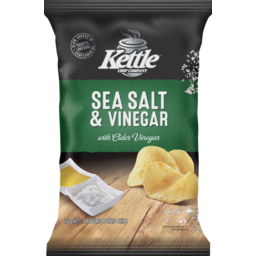 Photo of Kettle Chip Company Potato Chips Sea Salt & Vinegar 150g