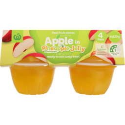 Photo of WW Fruit Snack Apple In Pineapple Jelly Pottles 4 Pack
