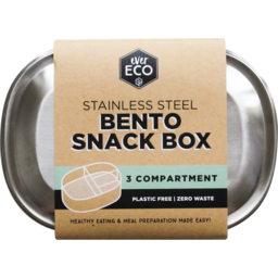 Photo of Ever Eco Bento Snack Box - Stainless Steel (3 Compartments)