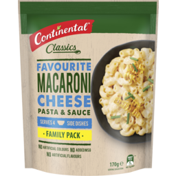Photo of Continental Classics Pasta & Sauce Macaroni Cheese Family Pack 170g Serves 4
