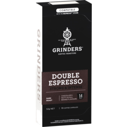 Photo of Grinders Double Espresso Coffee Capsules 10x52g