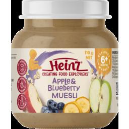 Photo of Heinz Smooth Apple & Blueberry Muesli 110g