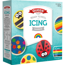 Photo of Queen Ready To Roll Rainbow Icing 625g