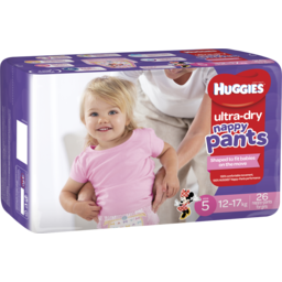 Photo of Huggies Ultra Dry Nappy Pants, Girls, Size 5 Walker (12 - 17kg), 26 Nappy Pants
