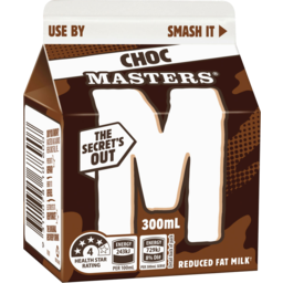 Photo of Masters Chocolate Milk 300ml Carton