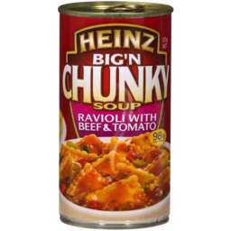 Photo of Heinz Big N Chunky Soup Ravioli With Beef & Tomato 535gm
