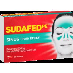 Photo of Sudafed Pe Sinus + Pain Relief 20x