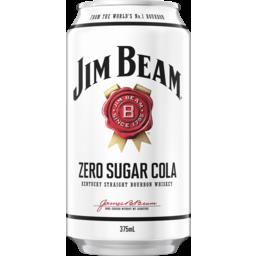 Photo of Jim Beam White & Zero Sugar Cola Can