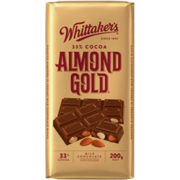 Photo of Whittaker's Almond Gold Block 200gm